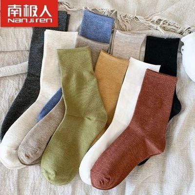91576/南极人袜子女中筒袜夏秋季长筒袜ins韩版长袜女款纯色日系堆堆袜
