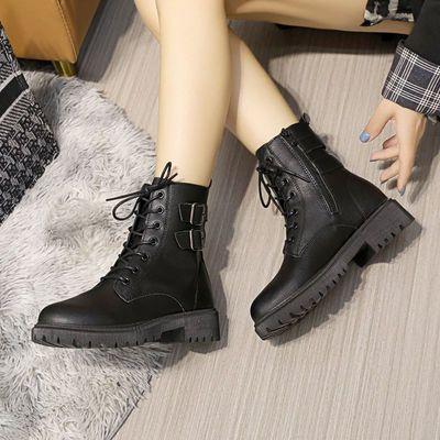 马丁靴女2021新款春秋单靴英伦风靴子女学生韩版百搭冬季加绒短靴