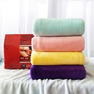 92851/厂家直销法莱绒毛毯空调毯夏季盖毯休闲毯赠品礼品定制素色毯子