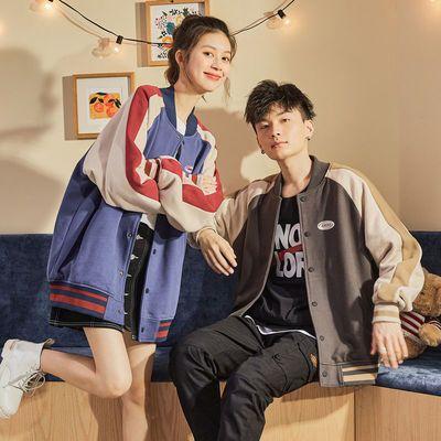 唐狮2021冬新款女式韩版宽松百搭拼接撞色加绒百搭上衣女连帽外套