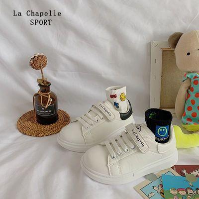 91593/拉夏贝尔SPORT儿童板鞋透气实心软底女童鞋子加绒麦昆学生小白鞋
