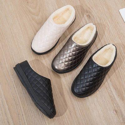 92266/室内棉拖鞋女款孕妇防水棉拖鞋高档冬款高颜值洋气加厚外出包头