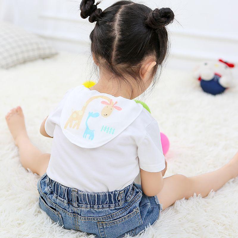 A类品质,6层精梳棉,宝宝不着凉:3条 洁丽雅 儿童纯棉隔汗巾