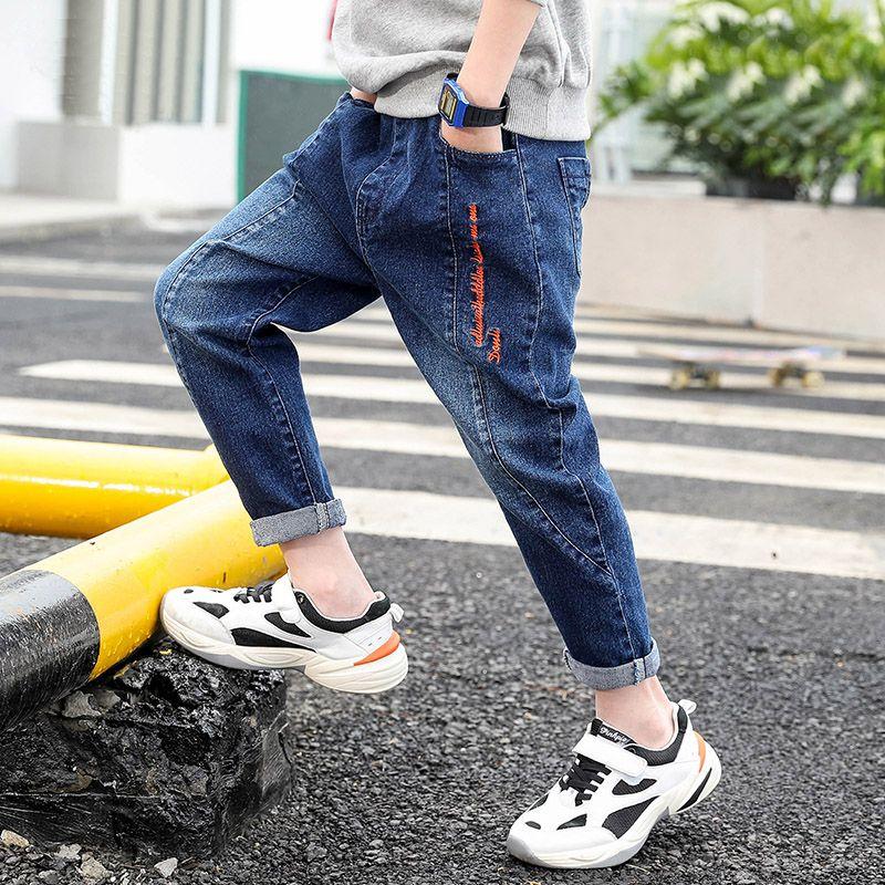 加绒可选,北极绒 男童 微弹水洗牛仔裤