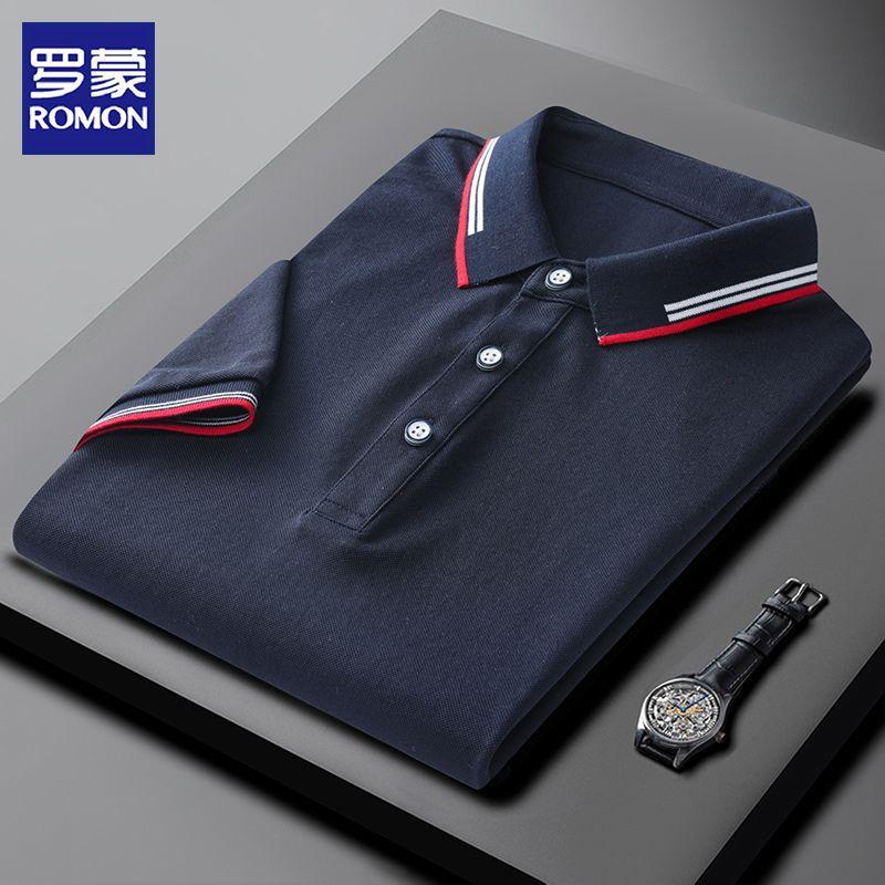 珠地网眼面料,体感清凉透气:罗蒙 男士 2021夏新款短袖polo衫