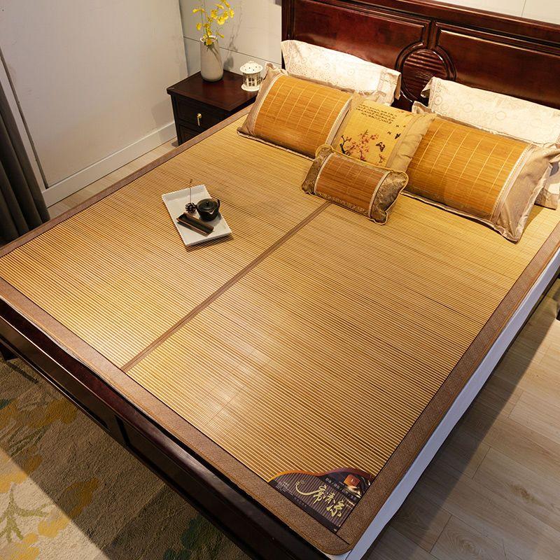 双面可用,冰丝+青竹:南方生活 可折叠高温碳化竹凉席