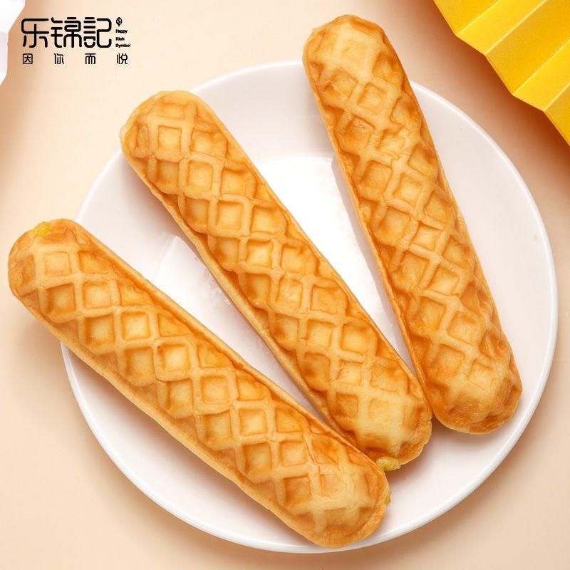 乐锦记乳酪华夫手撕棒整箱夹心蛋糕糕点点心网红零食奶香面包食品