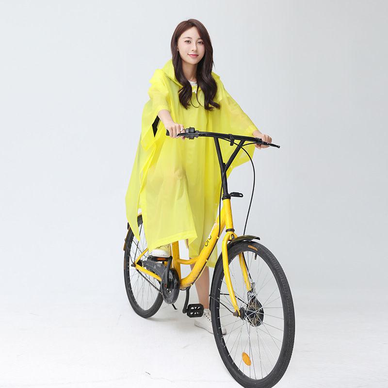 徒步旅行EVA雨衣成人男女通用多用途骑行便携式防水连帽雨披外套