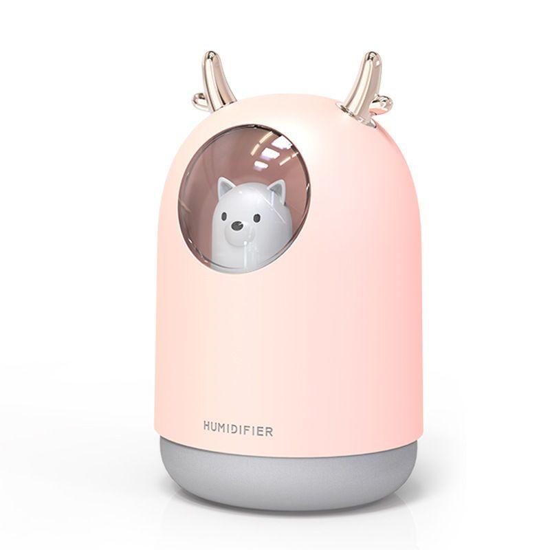 2021usb七彩加湿器家用卧室静音小型大喷雾孕妇婴儿空气香薰机
