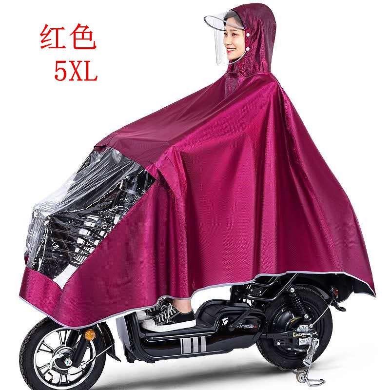 雨衣摩托车电动车雨披男女生雨披成人加厚骑行单人雨披透明双帽檐