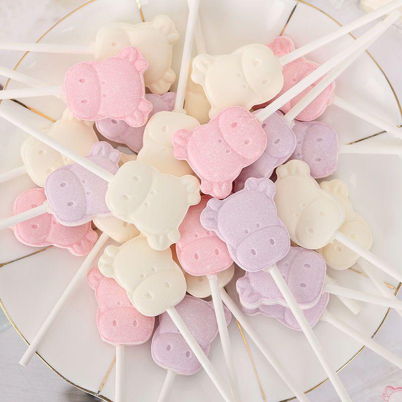 卡通牛头奶棒糖可爱创意儿童零食牛奶棒棒糖喜糖小孩糖果年货批发