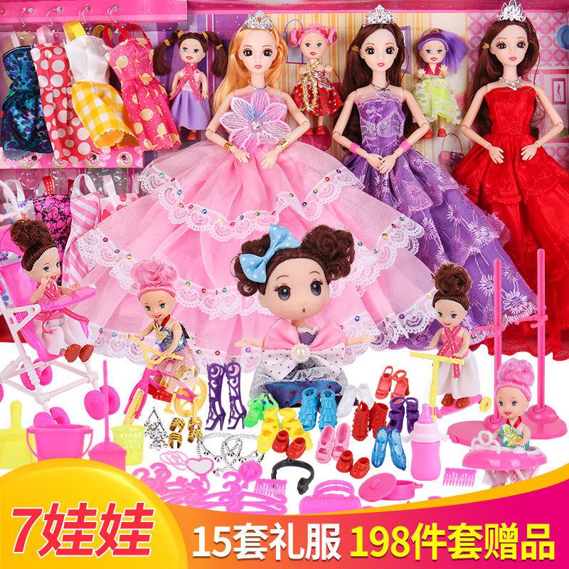 巴比芭比娃娃玩具女孩儿童大套装洋娃娃批发市场进货网红白雪公主
