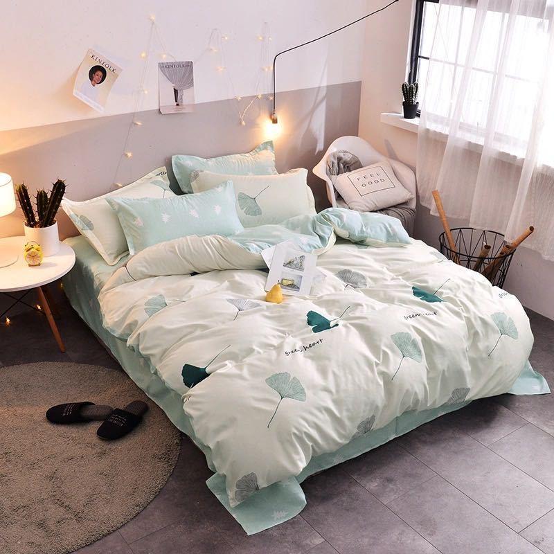 浪莎正品四件套简约床上用品水洗棉单双人学生少女心三4件套宿舍
