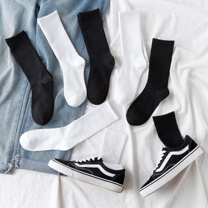 袜子女韩版秋冬女袜中筒ins潮流长筒堆堆防臭高筒袜情侣学生潮袜