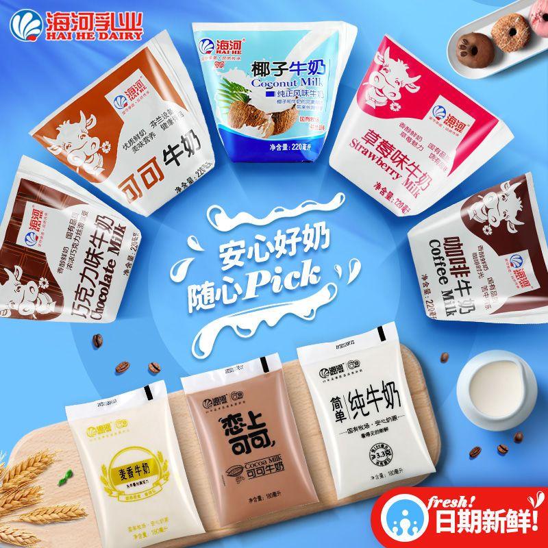 特价促销|12包天津海河可椰子淡甜牛奶整箱破损包赔顺丰包邮