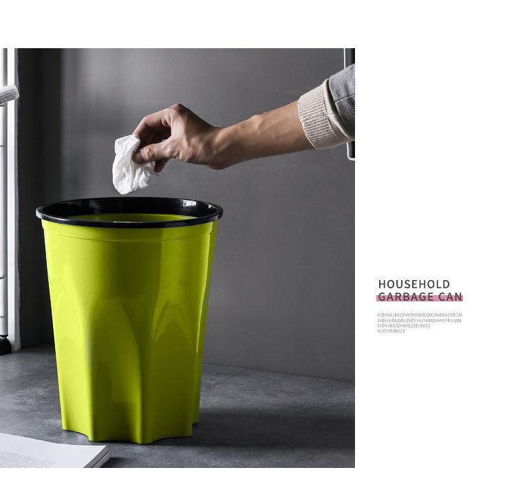 【买1送1】垃圾桶分类创意卧室家用大小号卫生间厨房客厅无盖塑料