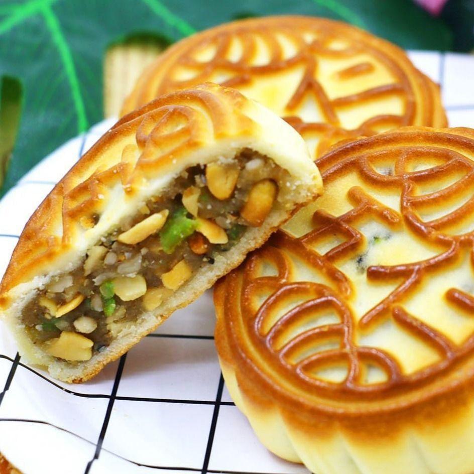 【现做现发】月饼广式老五仁传统手工水果味月饼中秋糕点零食批发