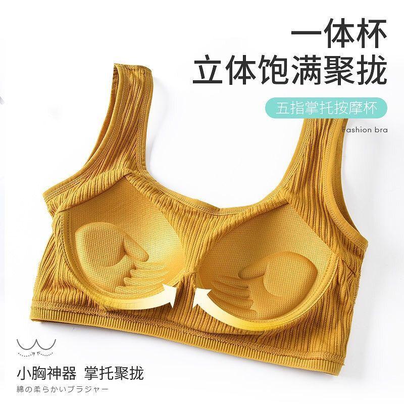 1/2条装纯棉少女运动内衣女学生一体裹胸无钢圈聚拢抹胸运动背心