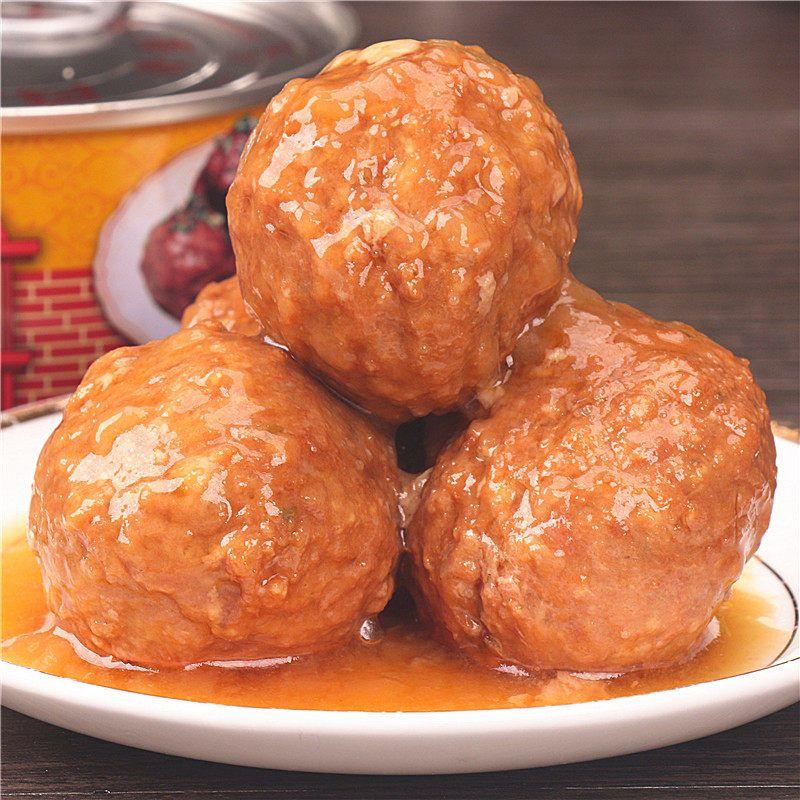 正宗红烧狮子头熟食菜肴四喜丸子精品家乡肉圆猪肉丸子淮扬特产