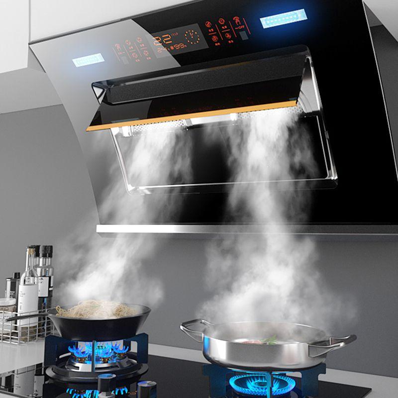 威力油烟机家用侧吸式抽油烟机厨房双电机抽烟机自动清洗吸油烟机