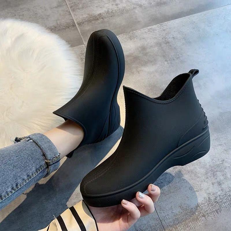 夏季日系时尚雨鞋女短筒雨靴水鞋低帮水靴防滑洗车买菜厨房鞋胶鞋