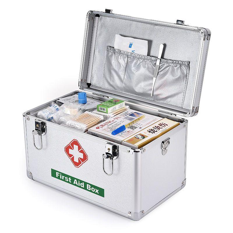 【推荐商品】药箱家用特大小号医药箱铝合金多层户外出诊箱收纳箱