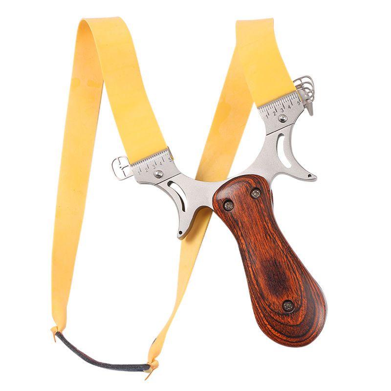 便宜的扁皮弹弓高精度激光不锈钢钢珠实木大威力送皮筋泥丸包竞技贪狼