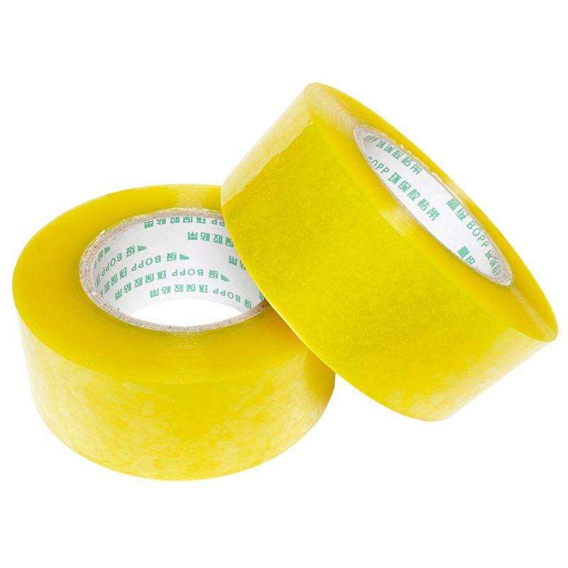 透明胶带批发大卷快递打包封箱胶带封口胶布高粘度宽胶带米黄胶纸主图5