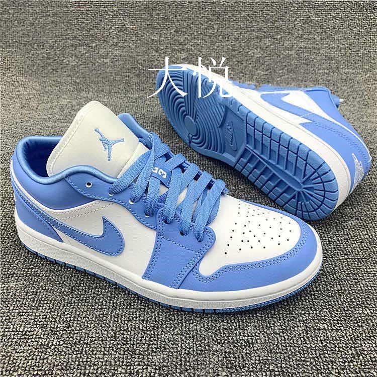 热卖新款夏季新款AJ1男鞋北卡蓝低帮板鞋aj1休闲女鞋篮球鞋情侣百