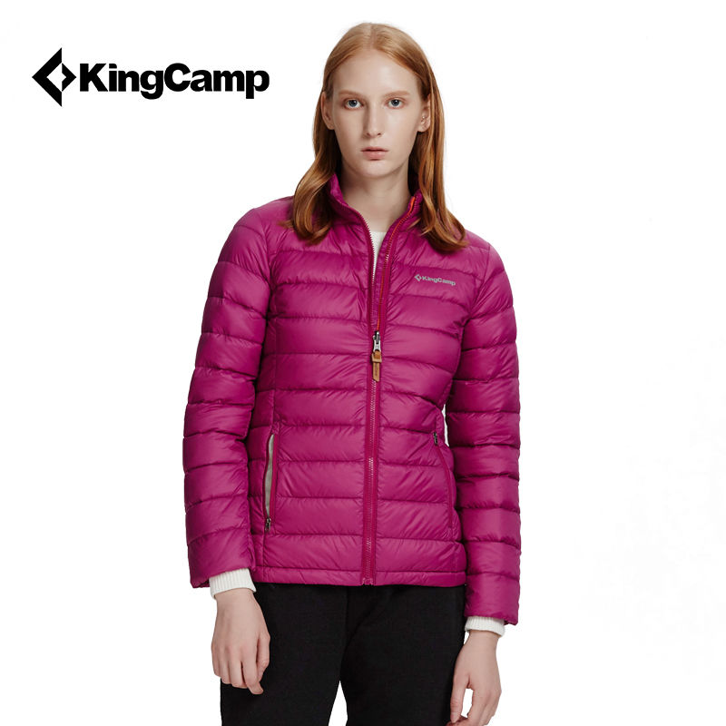 KingCamp轻薄羽绒服女90白鸭绒秋冬季保暖外套女士连帽羽绒服短款