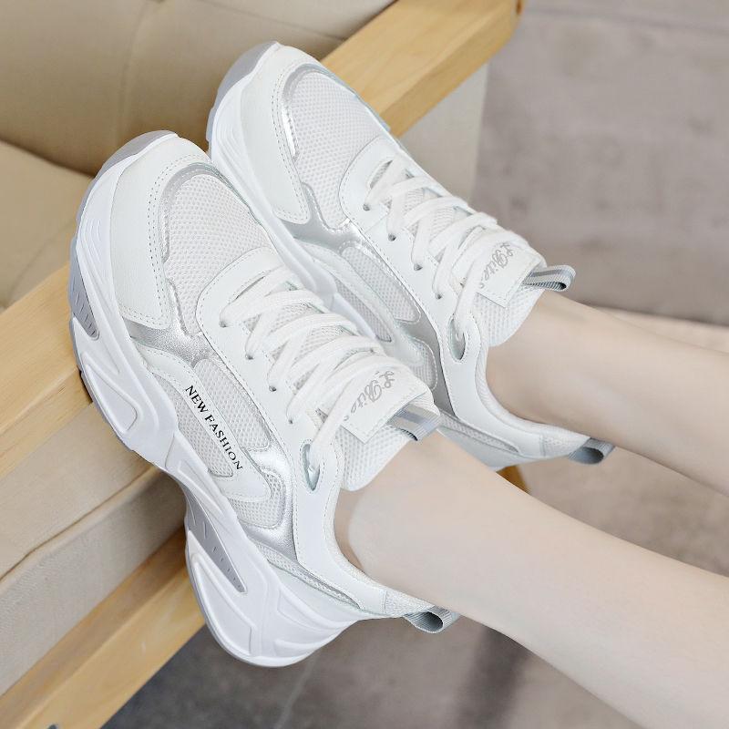 热卖新款鞋子女2021年春季新款潮运动鞋女学生韩版百搭休闲鞋老爹