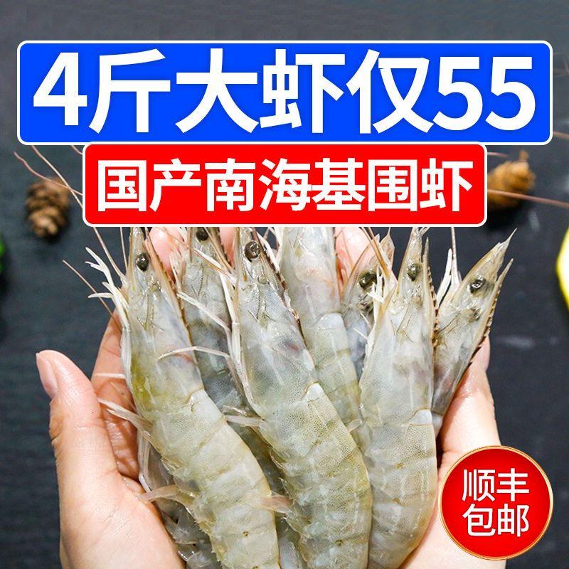 【国产大虾】顺丰冷链 海捕基围虾超大虾冻虾船冻 虾一箱海鲜批发