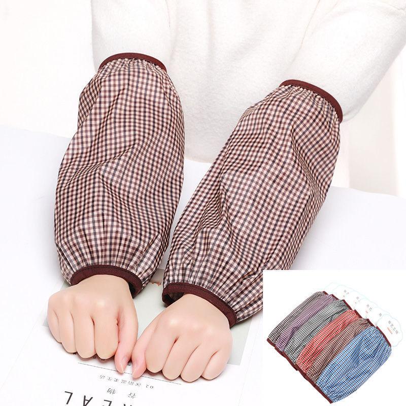 冬季双层蕾丝袖套女防脏护袖学生成人防污防水套袖网纱长短款袖头的细节图片8
