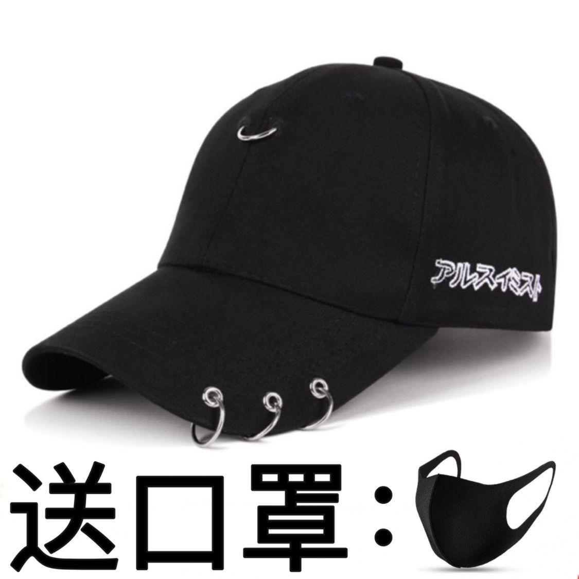 75754-帽子男潮鸭舌帽韩版男士夏季太阳帽黑色ins潮牌女休闲百搭棒球帽-详情图