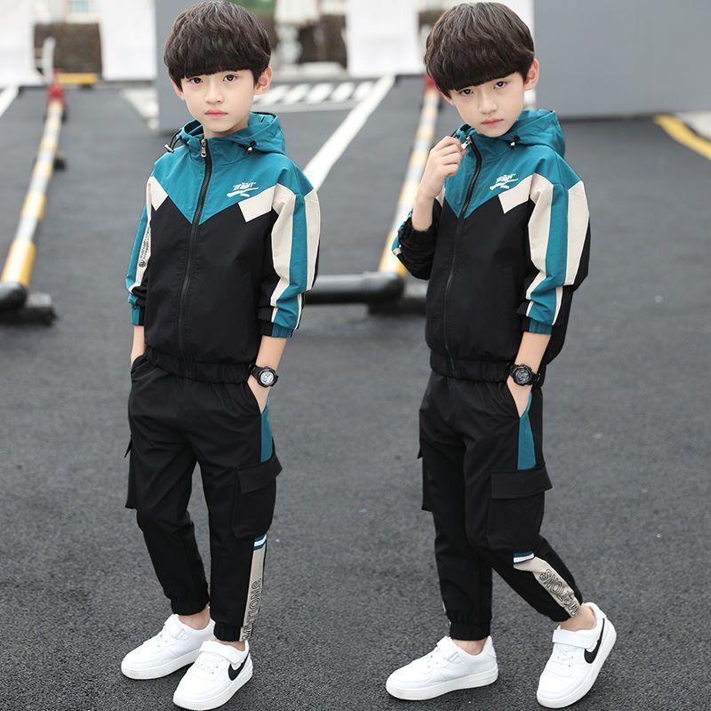 童装男童秋装套装2020新款春秋中大童帅气运动两件套男孩休闲套装