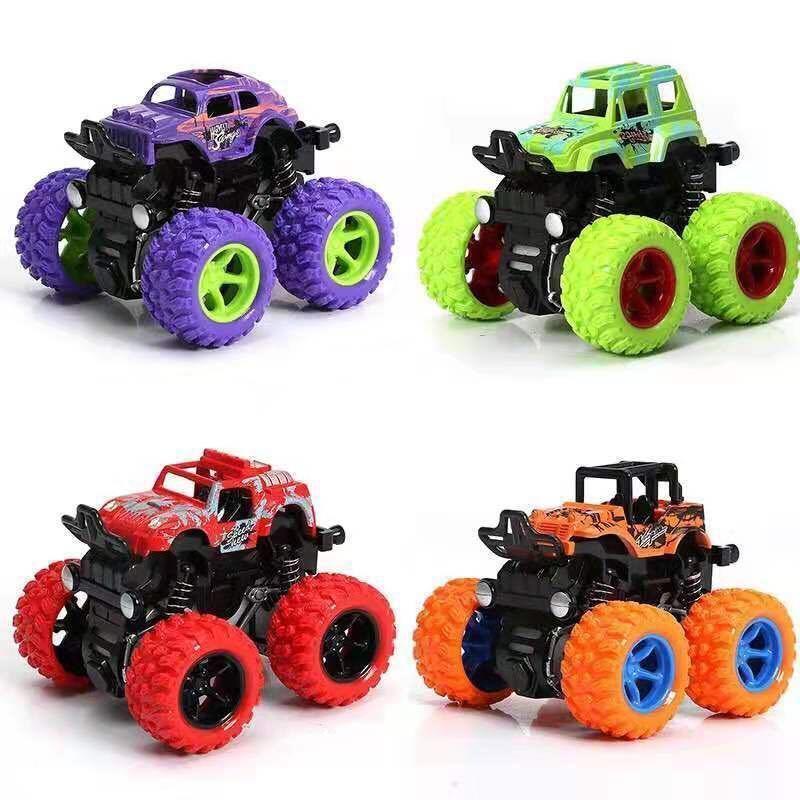 惯性四驱越野车儿童男孩模型车大轮特技玩具车耐摔小汽车