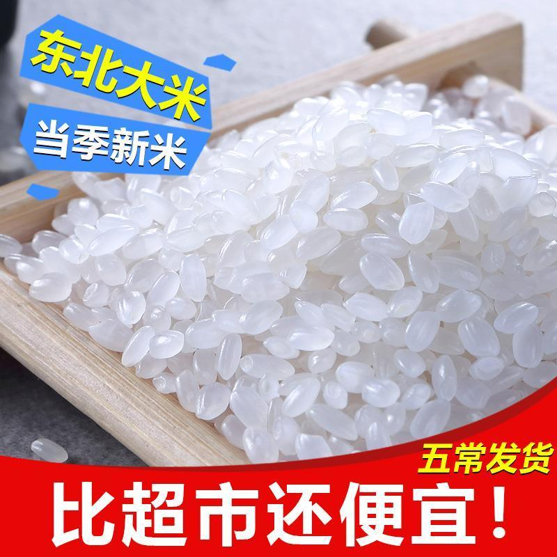 五常稻花香米长粒香米5斤10斤仨稻粒2020年新米东北大米五常大米