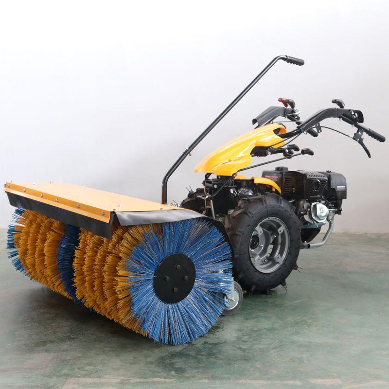 便宜的小型扫雪机抛雪机手推式户外工厂小吴物业80宽滚刷钢全齿轮除雪机