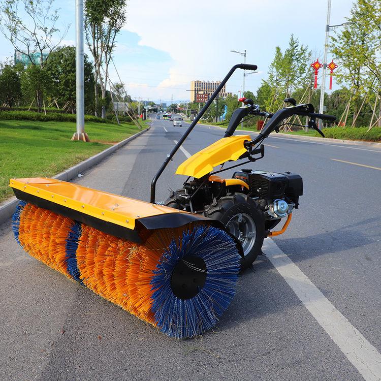 小型扫雪机抛雪机手推式户外工厂小吴物业80宽滚刷钢全齿轮除雪机