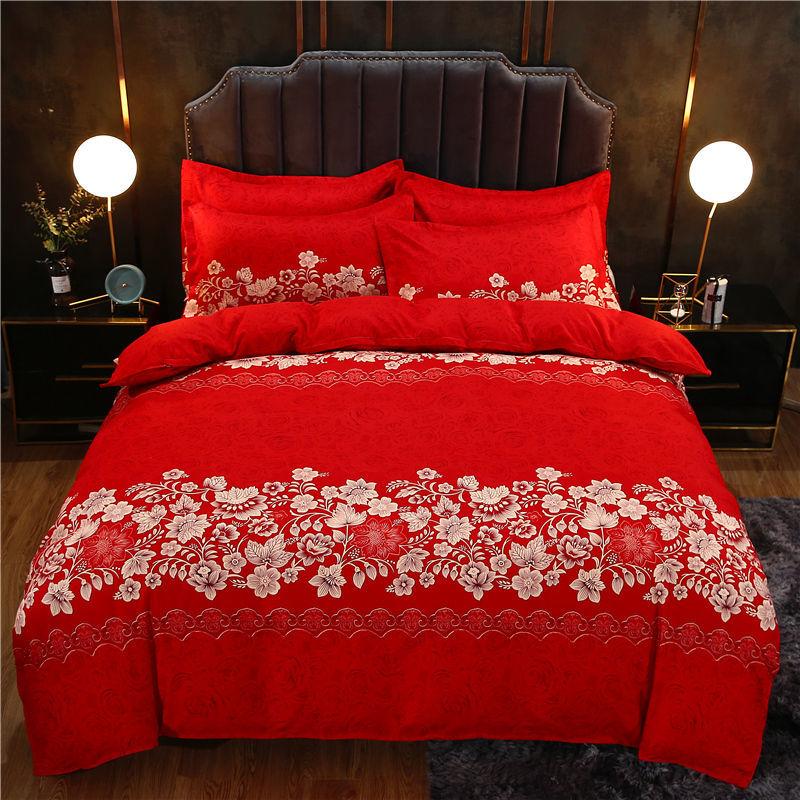 苏睡床上四件套亲肤棉磨毛床单款新中式
