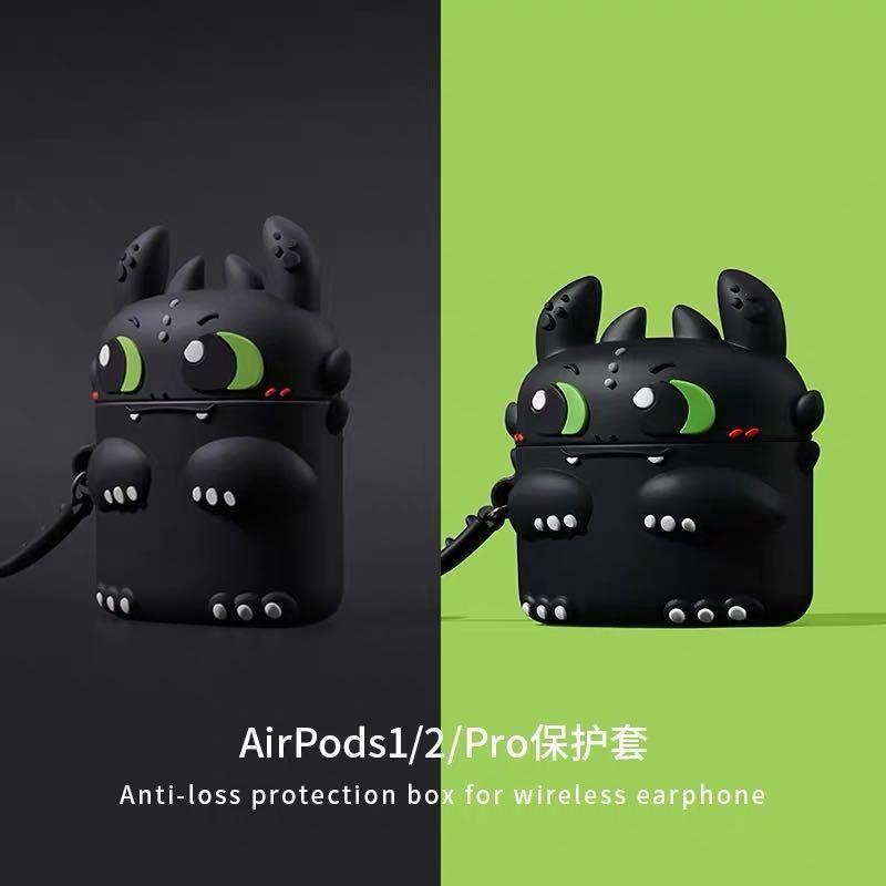 免運 Airpods保護套硅膠夜煞airpodspro保護套可愛蘋果耳機保護套2