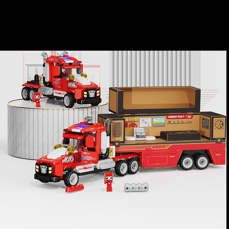 【新款超长重型卡车】布鲁可大颗粒积木9种变化拼装积木男孩女孩