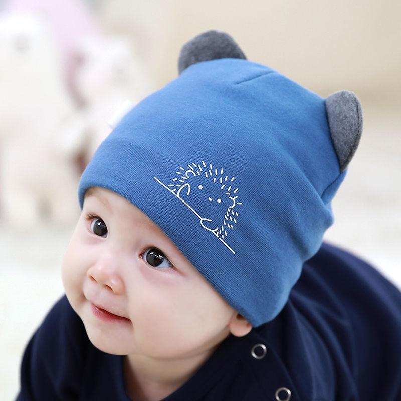 婴儿帽子春秋保暖秋冬季0-3-6-12个月新生儿男女宝宝初生幼儿胎帽