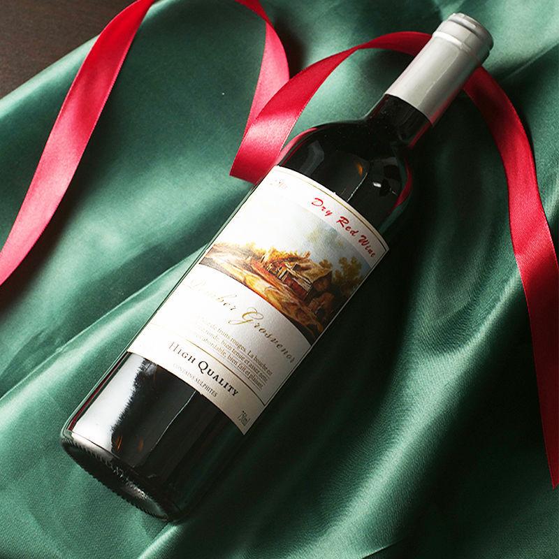 【干甜组合】正品赤霞珠干红葡萄酒红酒高端酿造整箱甜红破损包赔