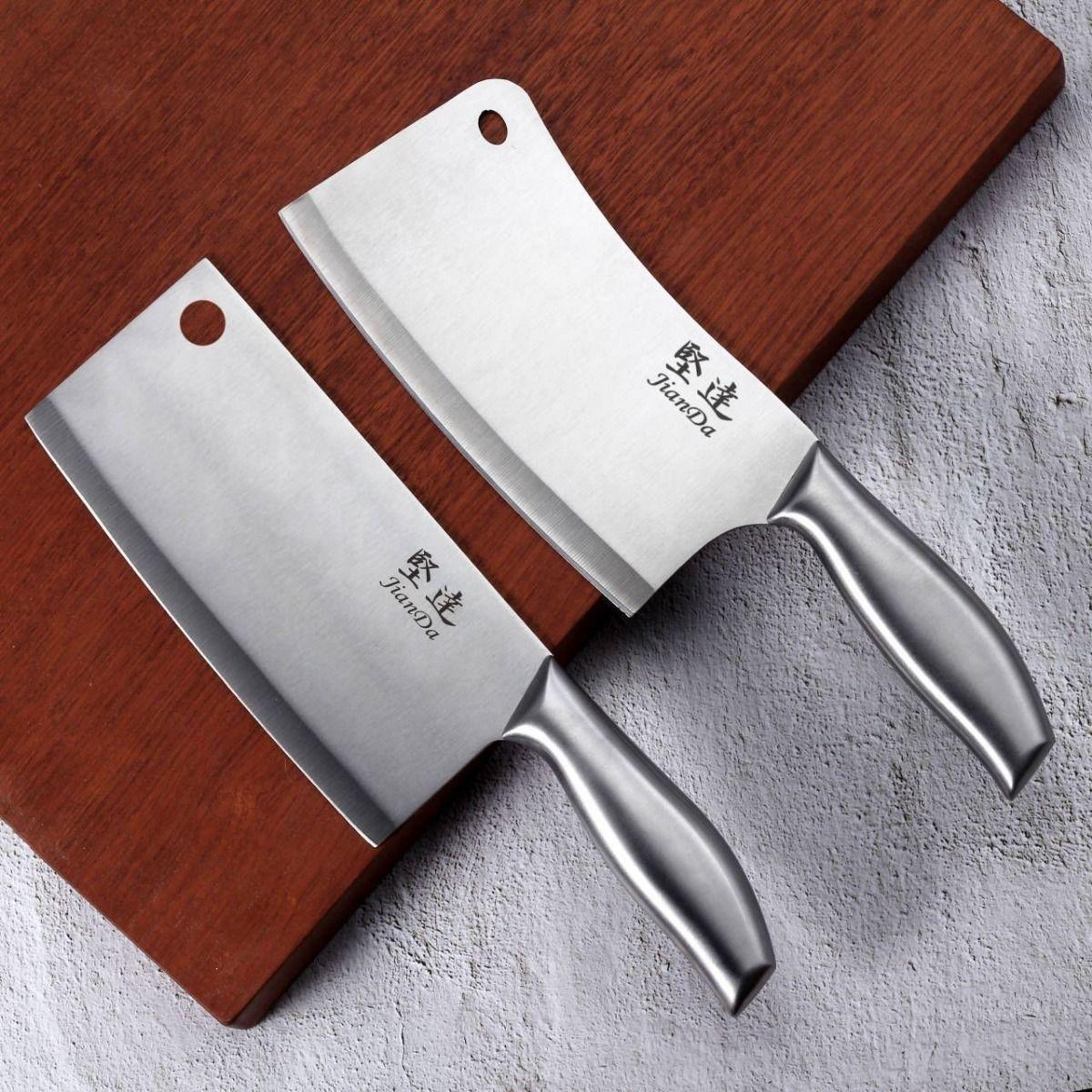 全钢家用菜刀不锈钢砍骨刀切片刀切肉刀厨房刀具免磨刀锋利全钢刀