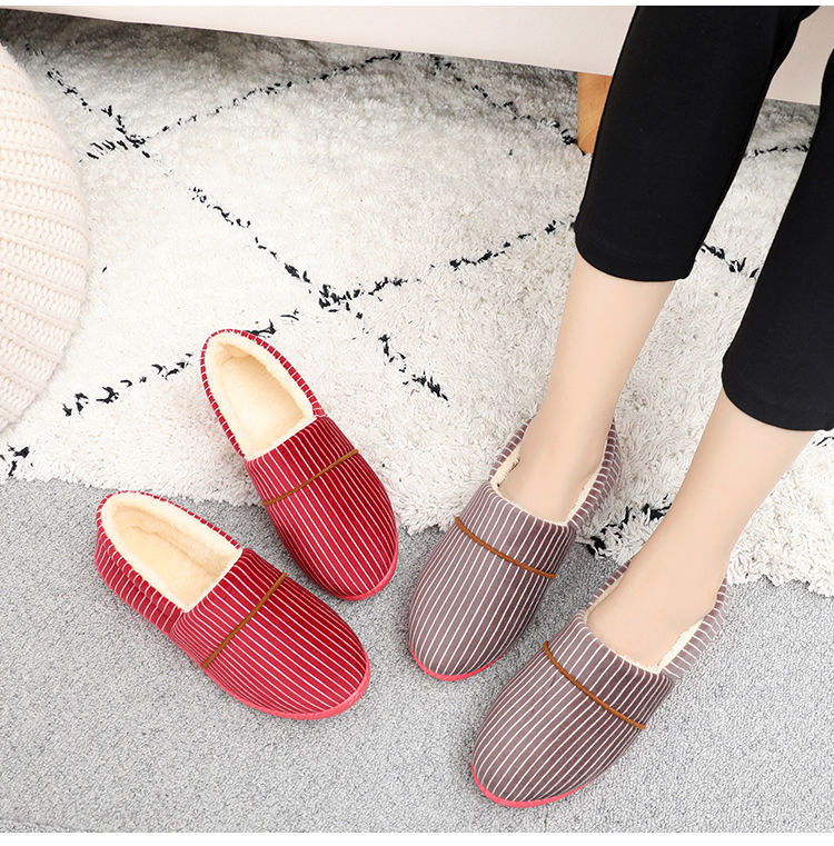 居家棉鞋魯泰棉拖鞋包跟冬季保暖懶人鞋辦公室居家棉鞋月子鞋秋冬媽媽棉鞋