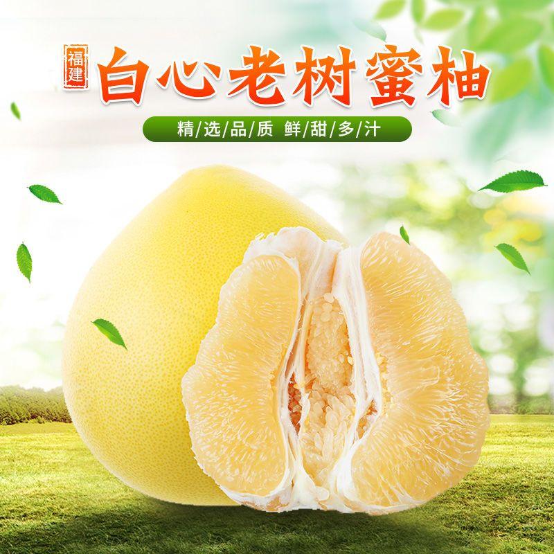 福建平和柚子 新鲜水果包邮 当季整箱白肉蜜柚 蜜甜柚子