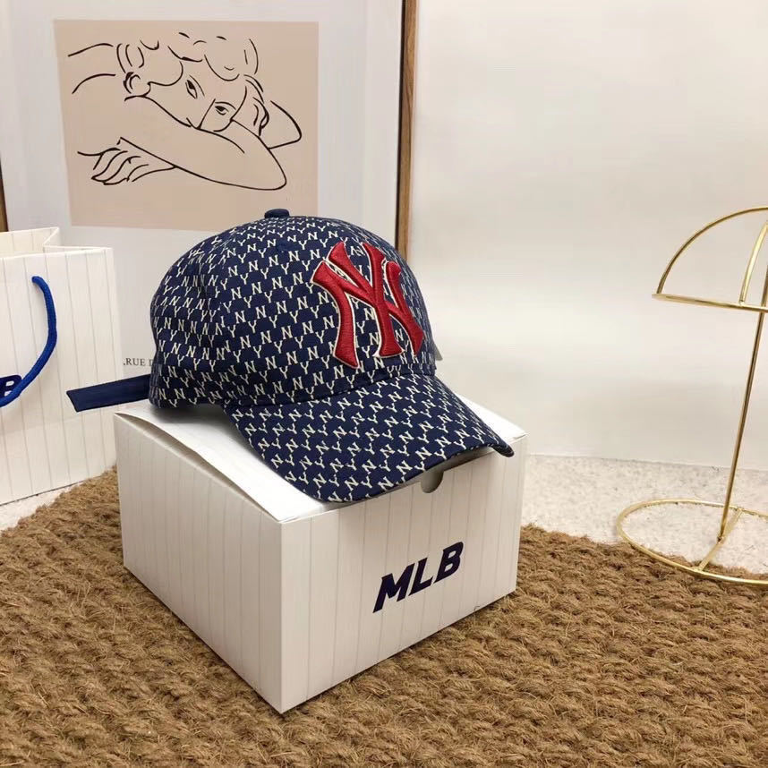 54144-2020棒球帽刺绣印花洋基队韩版时尚鸭舌帽水洗棉防晒遮阳帽-详情图
