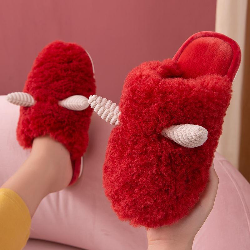 棉拖鞋女冬天可爱家居家用室内保暖防滑卡通毛毛绒拖鞋男士秋冬季