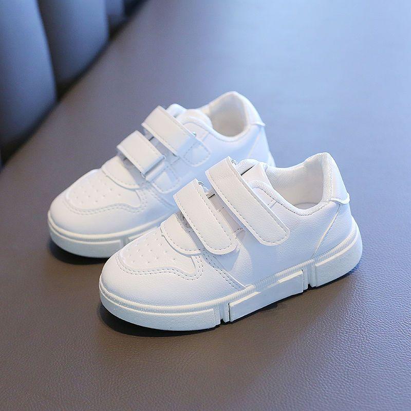 54295-秋季儿童白色运动鞋女童小白鞋幼儿园宝宝男童休闲小学生波球鞋子-详情图